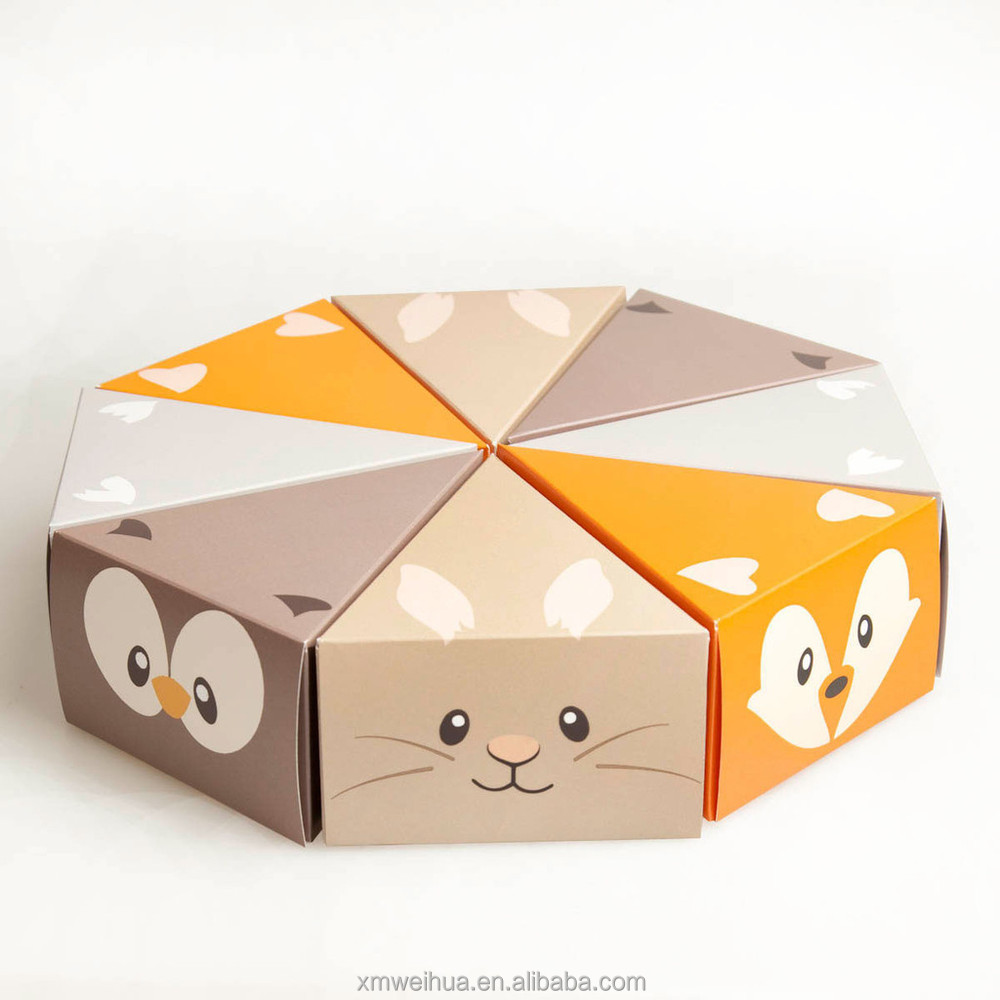 Charming Cartoon Octagon Designed Paper Cake Gift Box