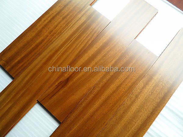 Hot Sales Prefinished African Teak Dahoma Solid Wood