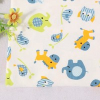 new design healthy custom cartoon print interlock indian block printed extra wide cotton fabric for quilting
