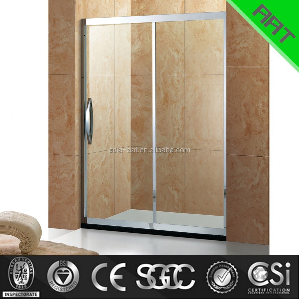 2 glass rolling shower door TA-319
