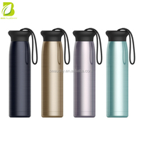 High quality 304 stainless steel matte black water bottle for sports drinking bottle