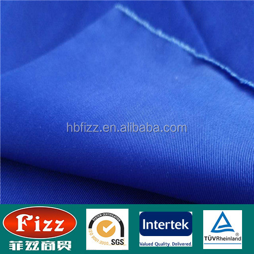 new design 10*10 80*46 work wear fabric royal blue color