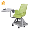Student Furniture School Wheeling Plastic Study Chair with Writing Pad