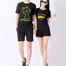 Short sleeve summer shirt printed couple t shirt