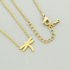 Unique Dragonfly Minimalist Pendant Necklace Jewellery Stainless Steel Jewelery Supplies Outlet