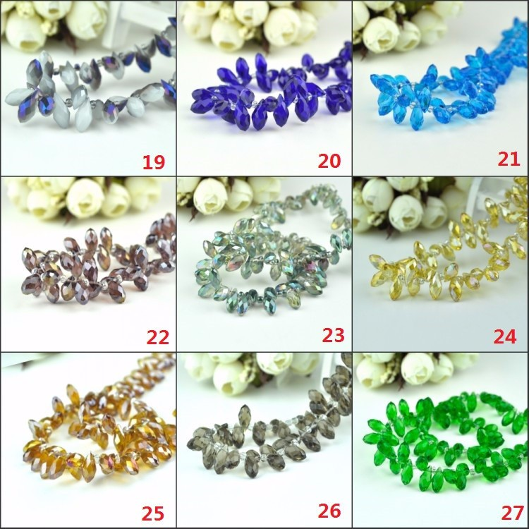 6x12mm Waterdrop Crystal Glass Loose Beads