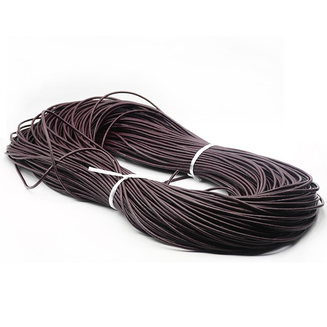 3mm Round Cowhide Leather Cord Many Colours Choose