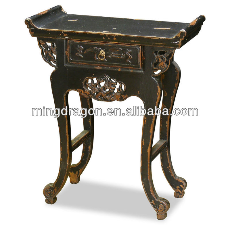 Chinese Side Table.Chinese Antique Vintage Elm Wood Shanxi Carved Console Table Buy