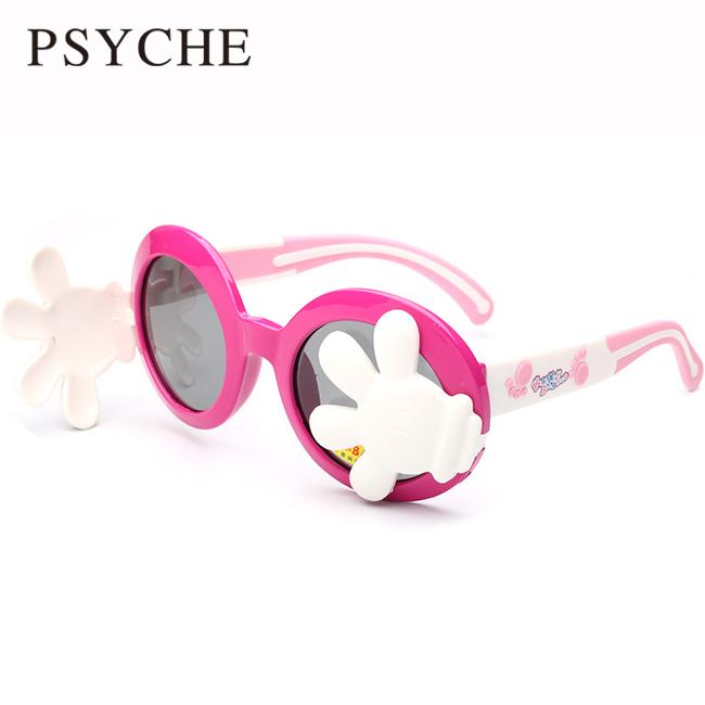Wholesale 2pcs/lot Kids blindfold hands Sunglasses Children 2016 7 Color Sun Glasses Boys Girls Cute Baby Oculos Infanti X456