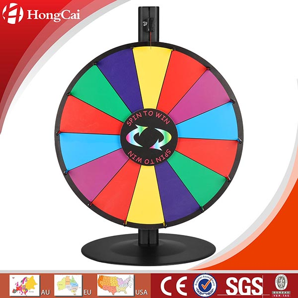 "18"" Dry Erase Tabletop Prize Wheel w/ Steel Base, Promotional Spinning Game Wheel of Fortune"