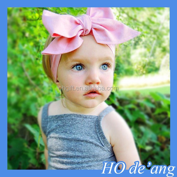HOGIFT Cute Kids Baby Toddler Infant Handmade Hair Bows Hair Band Bowknot Girls Headband