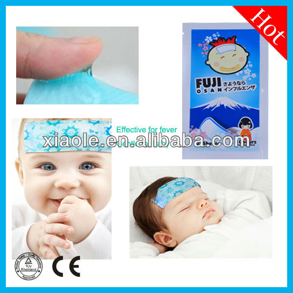 Anti-fever baby cooling gel mats body cool gel