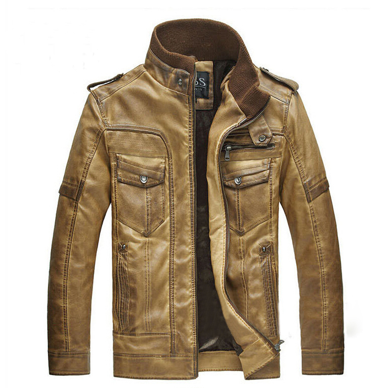 2014 new men's winter genuine leather fur jacket,men ...