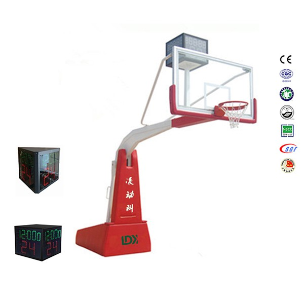 Electric hydraulic basket ball hoop basketball stand base for sale