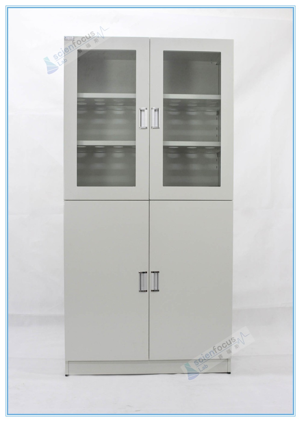 Steel laboratory cupboard storage laboratory glassware cabinet