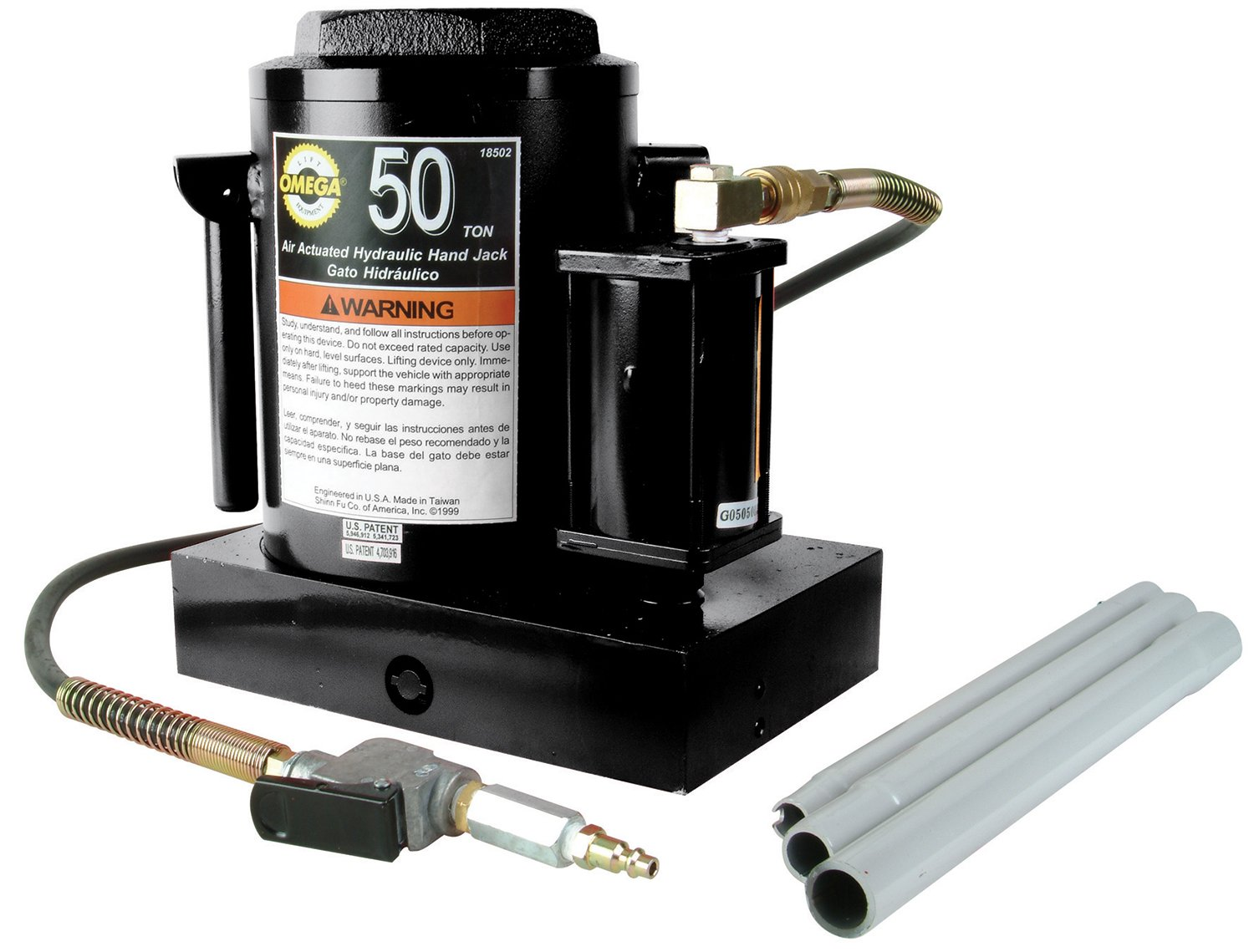 Buy Omega 18502 Black Hydraulic Air Actuated Bottle Jack