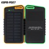 Eco-friendly Waterproof solar charger 5000 mAh rubber finish power bank