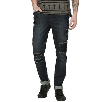 f59b18ad31fd7 Al por mayor venta al por mayor nuevo estilo casual Hombre rodilla parche  jeans personalizados para