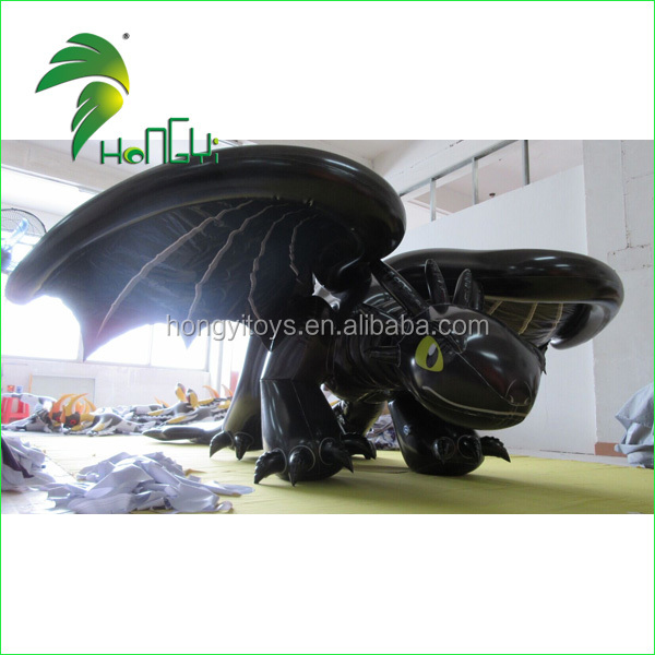 High Quality Double Layer Inflatable Toothless Dragon Costume / Inflatable Black Dragon Suit Made In China