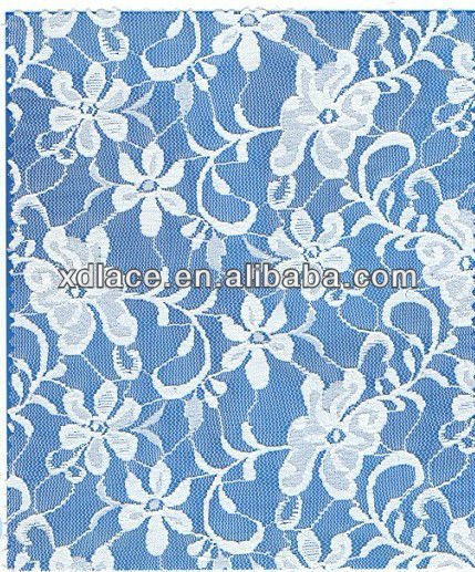 Water Lily Flower Design Good Quality Lace Fabric Stock