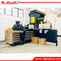 Shanghai Jewel brand CE quality corrugated paper compress hydraulic full automatic baler machine