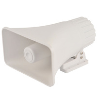 White 8 Ohm 30 W outdoor horn speaker,ABS material electric horn 220v