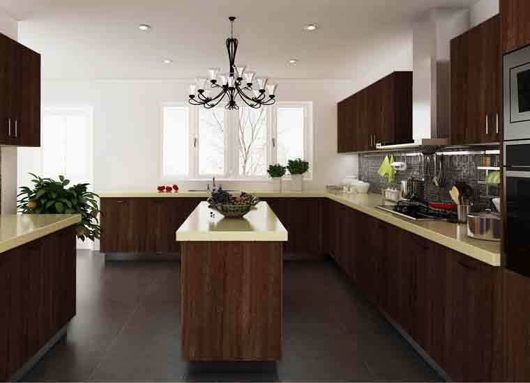 Kenya Project Commercial Round Modular Kitchen Cabinets ...