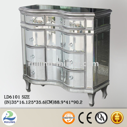 mirror glass curved cabinet doors