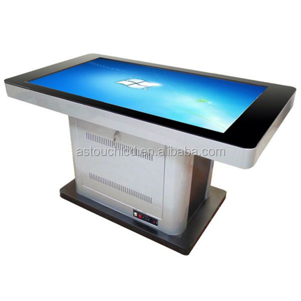 55 inch lcd touch screen smart conference table with network