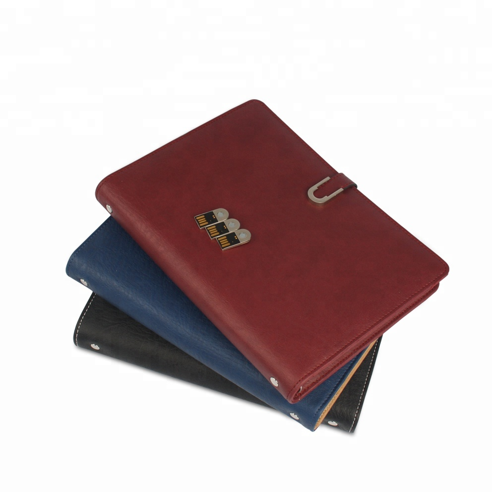 Zakelijke Corporate Gift Executive Leather Portfolio Emergency Mobiele USB Power Charger