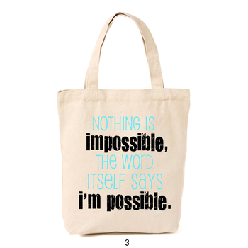 Famous Quote And Saying Cotton Shopping Bags Canvas Tote Bag - Buy ... ff34c66f2dcb5