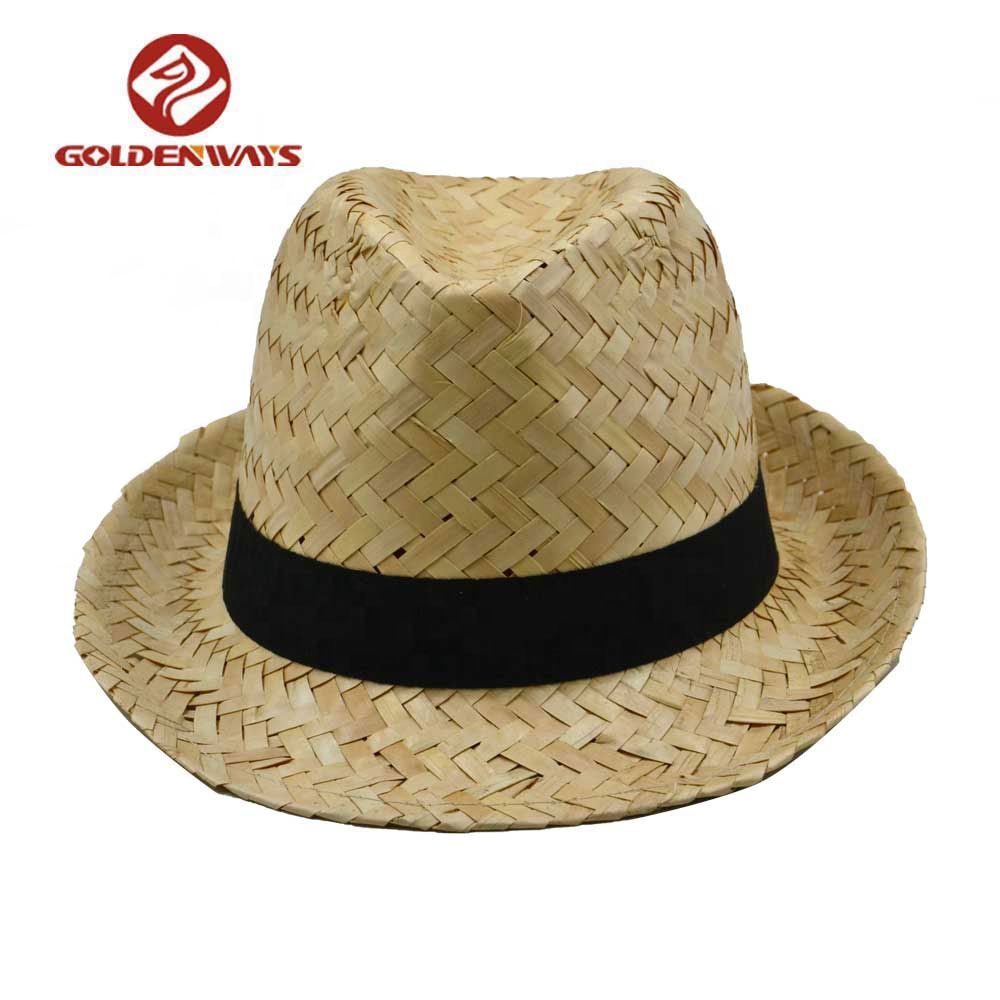 Made In China Bamboo Straw Fedora Hat