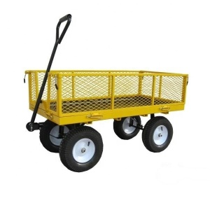 Heavy duty 600lbs pull pneumatic tire mesh cart for sale