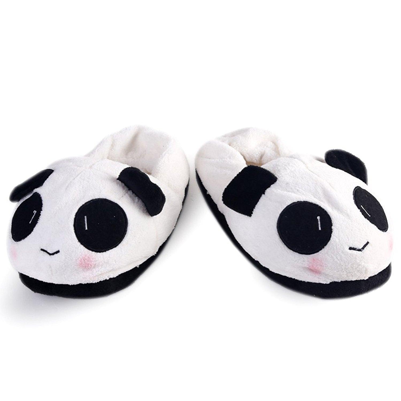 56d7d189b Get Quotations · FRALOSHA Winter Cute Panda Eyes Women Cute Slippers Lovely  Cartoon Indoor Home Soft Shoes Women Soft