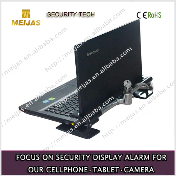 Retail display Mechanical block with cable lock for laptop