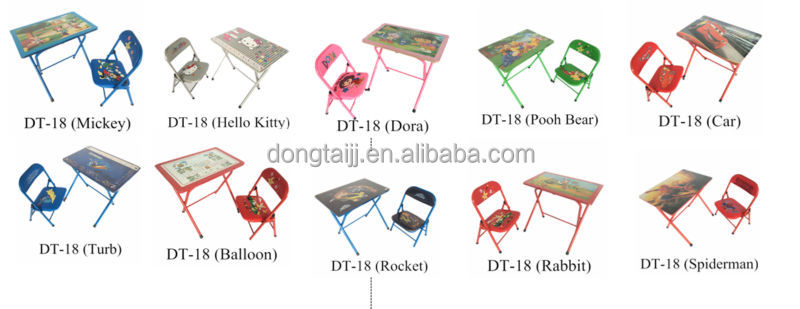 DT 19 Cheap Children Study Folding Table And Chairs