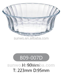 glass punch bowl made in China bowl glass with CE certificate