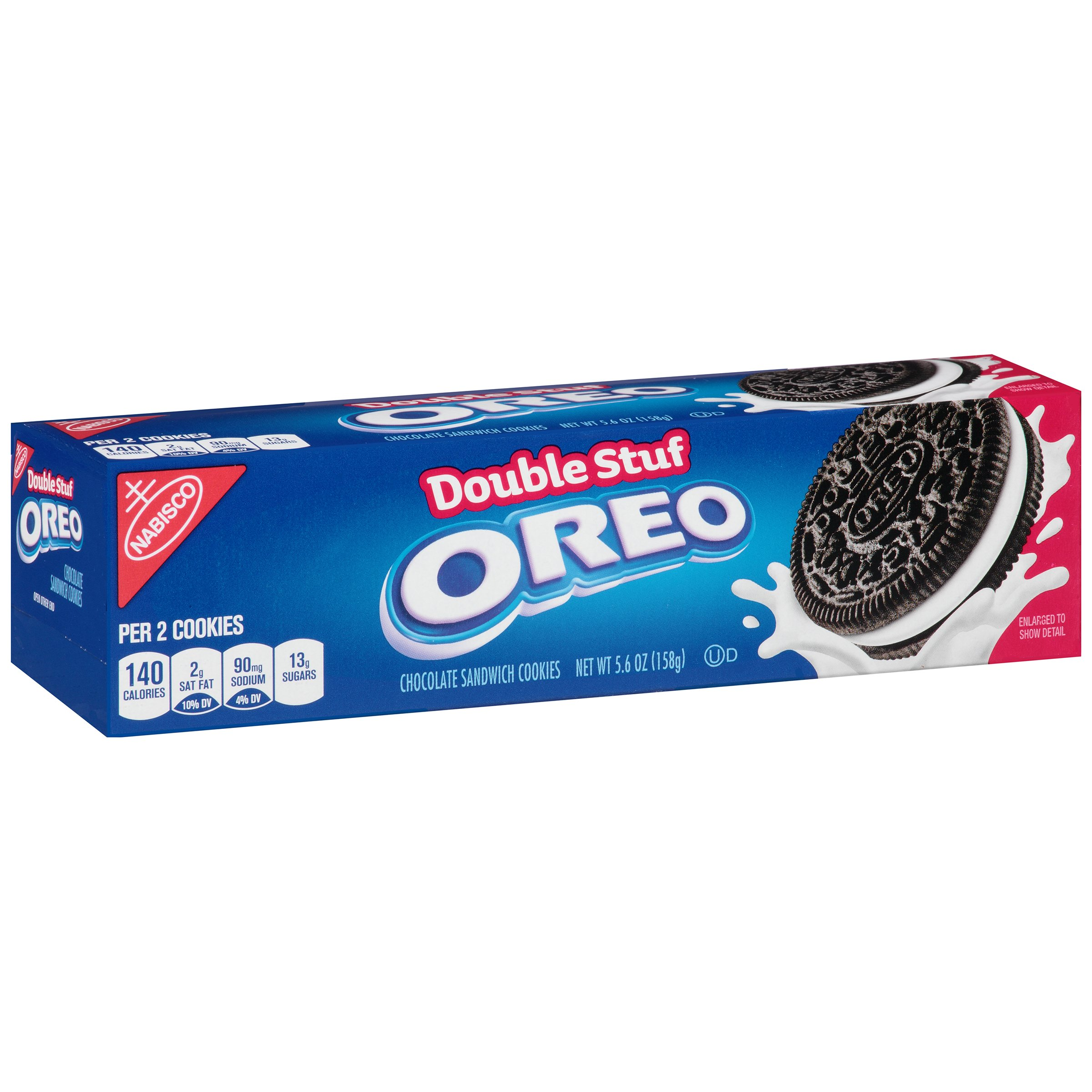 Oreo Double Stuf Chocolate Sandwich Cookies, 5.6 Ounce (Pack of 12)