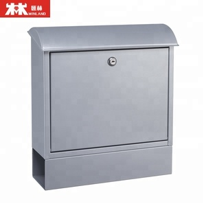 Galvanized steel mail box letter post with wood print Wall Mounted metal