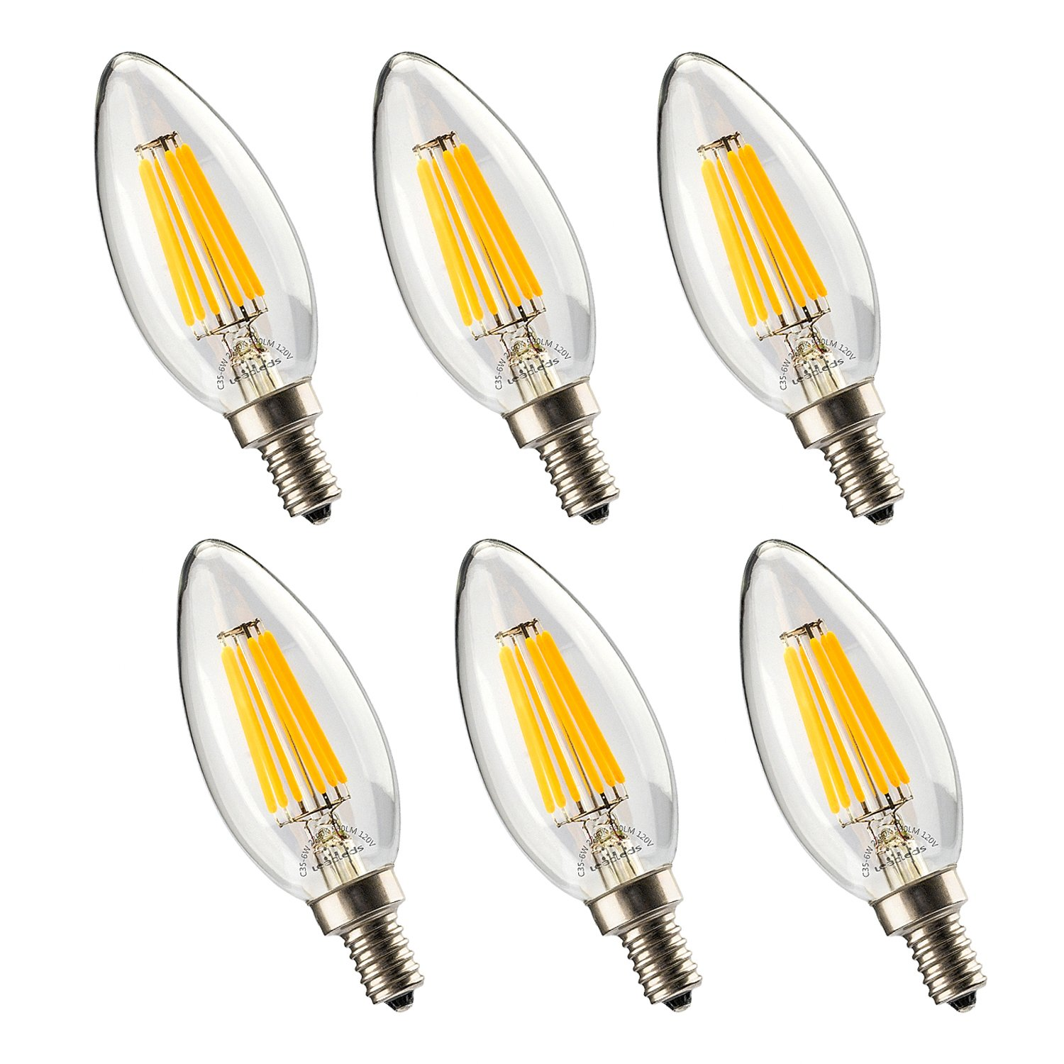 Buy leadleds 1206w energy saving vintage bulb with candelabra base leadleds 1206w energy saving vintage bulb with candelabra base blunt tip b11 light bulb 6w arubaitofo Gallery