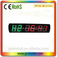 "Godrelish LED 4"" 6 digit countdown timer crossfit / countup"
