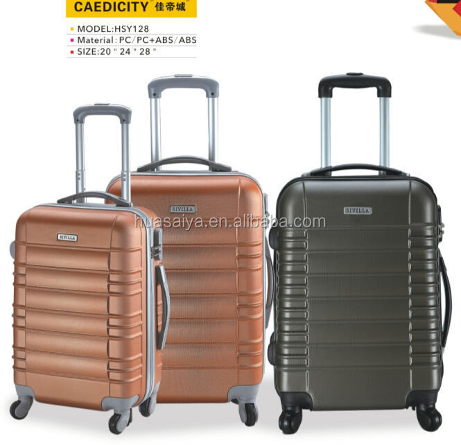 New hot selling ABS trolley luggage bag set for easy trip