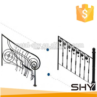 hot selling wrought iron railings for iron stairs