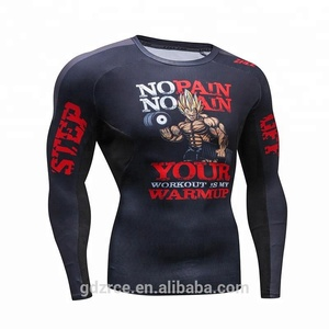 Ad version long sleeve sportswear 3D printed compression shirt custom t shirt