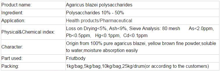 Hot product for Agaricus Blazei murill Mushroom extract powder