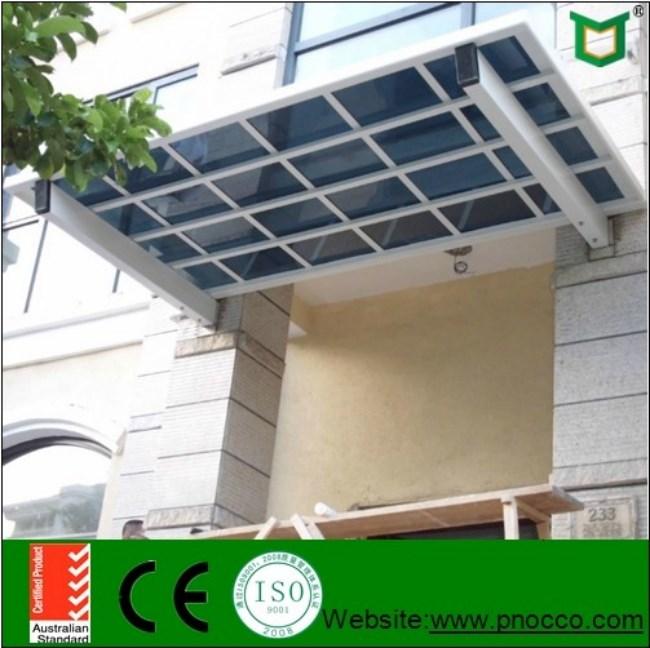 Aluminium frame carport with laminated glass roof buy for Carport aluminium glas