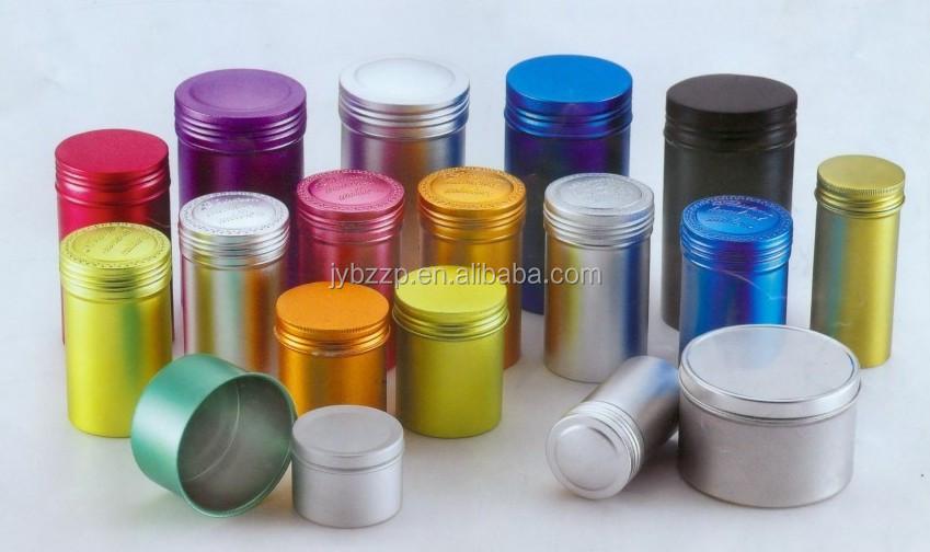 Embalagem De Alumínio Colorido Lata De Alumínio Com Tampa De Rosca