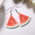 New design hot-sales fresh fruit earrings acrylic sweet jewelry orange apple charm earrings for gift