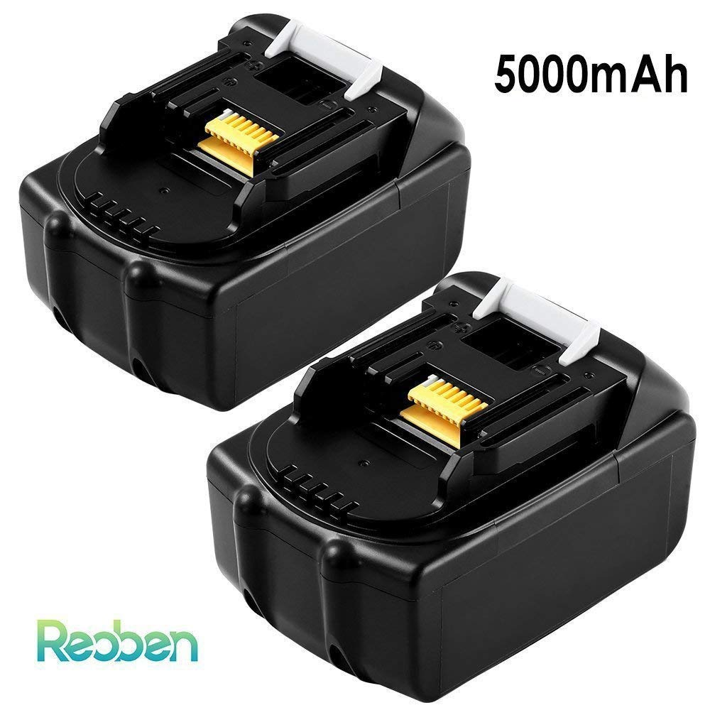 BL1850 5.0Ah Replacement for Makita 18V Battery LXT BL1860 BL1840 BL1815 BL1820 BL1845 BL1835 BL1830 LXT400 Cordless Power Tools 2 Packs