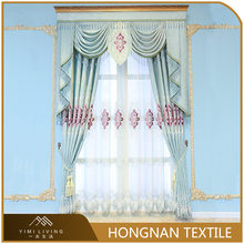 Hot selling european style blackout window fancy embroidery curtains
